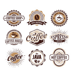 coffee logo collection vector image