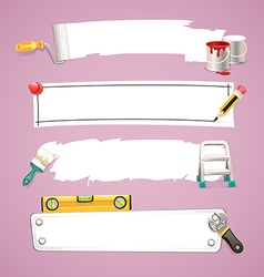 construction tools design elements set vector image