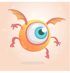 cute bright monster or alien cartoon vector image