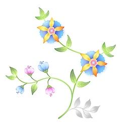Decor floral elements set vector