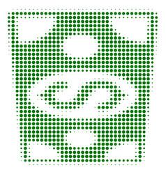 dollar banknote halftone icon vector image