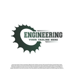 Engineering logo with gear concept mechanic sign vector
