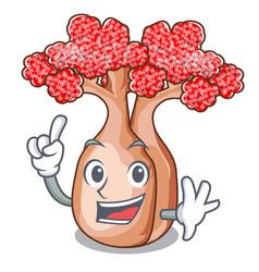 Finger bottle shaped tree on a cartoon vector