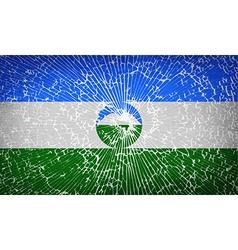 Flags kabardinobalkaria with broken glass texture vector