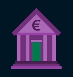 Flat icon on stylish background business bank vector