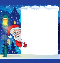Frame with santa claus theme 5 vector
