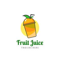 fruit juice logo fresh drink logo vector image