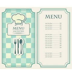 green menu vector image vector image