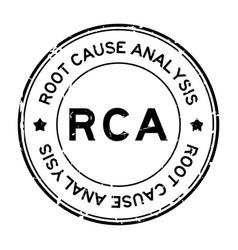 Grunge black rca root cause analysis word round vector