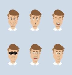 Head mens set of icons vector