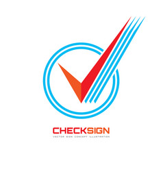 Icon check box - logo template vector