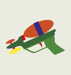 Icon in flat design toy gun vector
