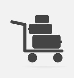 Icon shows presence porters trolley vector