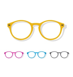 Image of glasses orange vector