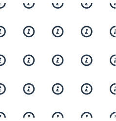 info icon pattern seamless white background vector image