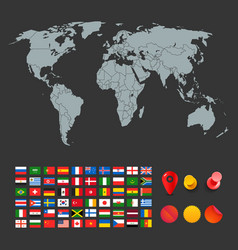 infographic elements for design world map and vector image