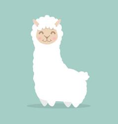 llama alpaca fluffy vector image