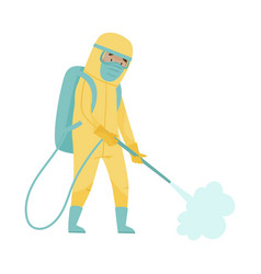man in protective suit and mask standing vector image