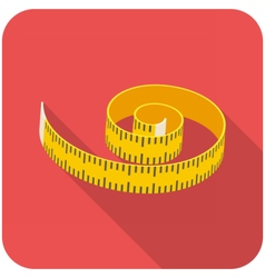 Measuring tape icon vector