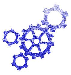 mechanism grunge textured icon vector image