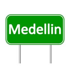 Medellin road sign vector
