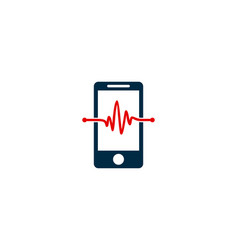 mobile medical logo icon design vector image
