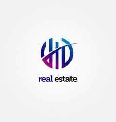 Modern abstract property logo vector