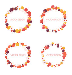 Multicolored round banner vector
