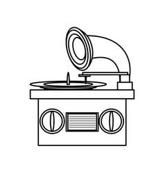 Music gramophone vinyl vector