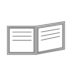 Open book with text icon outline style vector image