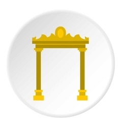 Ornamental arch icon flat style vector image