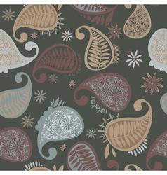 Paisley seamless pattern vector