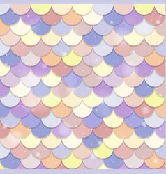 Pastel mermaid scales seamless pattern vector