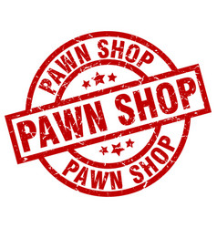 Pawn shop round red grunge stamp vector