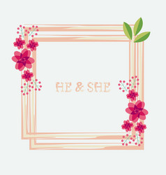 Peony rose ranunculus pink flowers and decorative vector