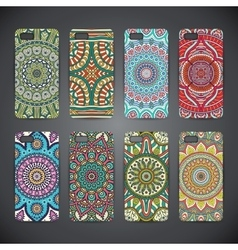 Phone case colorful floral pattern vector