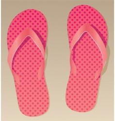 Pink flip flops vector