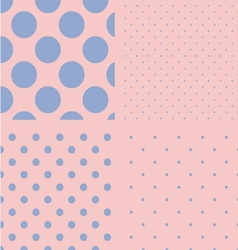 Polka dot set Seamless pattern Rose quartz and vector