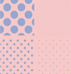polka dot set seamless pattern rose quartz vector image