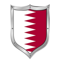 Qatar flag button vector image