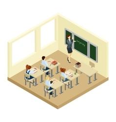 School Isometric vector