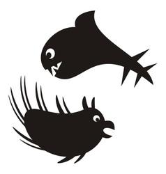 Sea monsters vector image