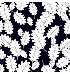 seamless pattern of leaves on background vector image