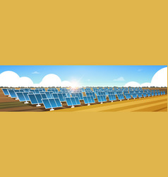 solar energy panel fields renewable station vector image