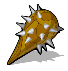 Spiked cudgel club weapon isolated on white vector