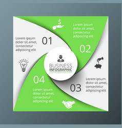 Spiral square for infographic vector