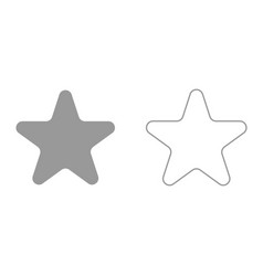 star it is black icon vector image