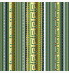 striped 3d greek seamless pattern colorful vector image