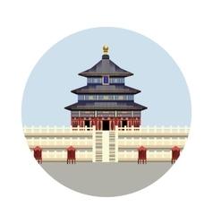 temple heaven icon vector image