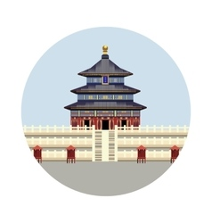 Temple of Heaven icon vector